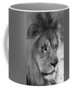 African Lion #8 Black And White  T O C Coffee Mug