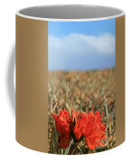 African Tulip Blossom Over Pineapple Field Aloha Makawao Coffee Mug