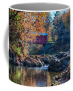 Afternoon Autumn Sun On Vermont Covered Bridge Coffee Mug