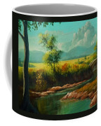 Afternoon By The River With Peaceful Landscape L B Coffee Mug