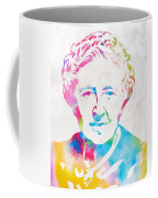 Agatha Christie Watercolor Tribute Coffee Mug