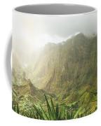 Agave Plants And Rocky Mountains. Santo Antao. Coffee Mug