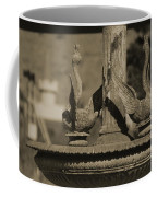 Aged And Worn Swan Statues On Rustic Cast Fountain Coffee Mug