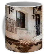 Aged Stucco Building Balcony With Terracotta Roof Coffee Mug