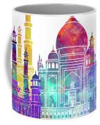 Agra Landmarks Watercolor Poster Coffee Mug