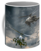 Ah-64 Apache Attack Helicopter In Flight Coffee Mug
