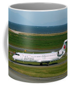 Air Canada Express Crj Taxis Into The Terminal Coffee Mug