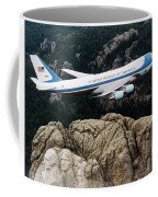 Air Force One Flying Over Mount Rushmore Coffee Mug