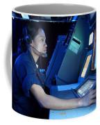 Air Traffic Controller Monitors Marine Coffee Mug