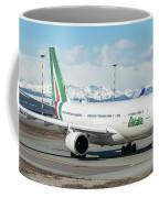 Airbus A330 Alitalia With New Livery  Coffee Mug