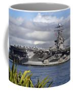 Aircraft Carrier Uss Abraham Lincoln Coffee Mug