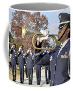 Airman Plays Taps During The Veterans Coffee Mug by Stocktrek Images