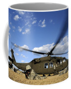 Airmen Provide Security In Front Coffee Mug
