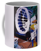 Airplane In A Laundry Basket Coffee Mug