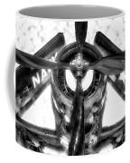 Airplane Propeller And Engine Navy Bw Coffee Mug