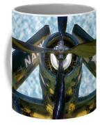 Airplane Propeller And Engine Navy Coffee Mug