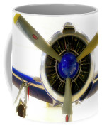 Airplane Propeller And Engine T28 Trojan 01 Coffee Mug