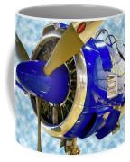 Airplane Propeller And Engine T28 Trojan 02 Coffee Mug
