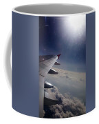 Airplane Wing In Clouds Coffee Mug
