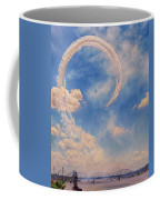 Airshow At The Lou Coffee Mug by Susan Rissi Tregoning