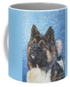 Akita In Snow Coffee Mug