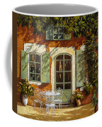Al Fresco In Cortile Coffee Mug by Guido Borelli
