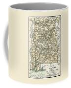 Alabama Antique Map 1891 Coffee Mug