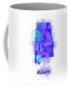 Alabama Map Watercolor 2 Coffee Mug