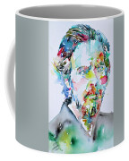 Alan Watts Watercolor Portrait Coffee Mug