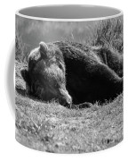 Alaska Grizzly - Do Not Disturb Grayscale Coffee Mug