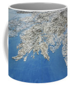 Alaska Map Wall Art Coffee Mug