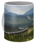 Alaska Pipeline Heading South Thru Coffee Mug