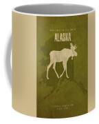 Alaska State Facts Minimalist Movie Poster Art Coffee Mug