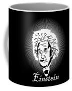Albert Einstein Caricature On A White Glow Coffee Mug