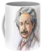 Albert Einstein Coffee Mug by Olga Shvartsur