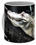 Albino Gator Painting Coffee Mug