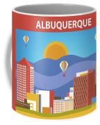 Albuquerque New Mexico Horizontal Skyline Coffee Mug