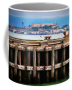 Alcatraz Beyond The Pier Coffee Mug