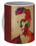 Alden Ehrenreich Watercolor Portrait Coffee Mug