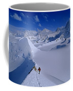Alex Lowe On Mount Bearskin 2850 M Coffee Mug by Gordon Wiltsie