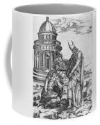 Alexander The Great Kneeling Before The High Priest Of Ammon Coffee Mug