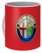 Alfa Romeo - 3d Badge On Red Coffee Mug
