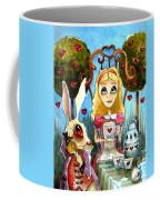 Alice And The Rabbit Having Tea... Coffee Mug