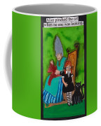 Alice Pinched The Cat Coffee Mug