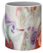 Alien Worlds. Abstract Fluid Acrylic Painting Coffee Mug