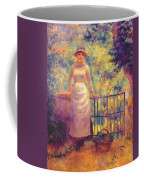 Aline At The Gate Girl In The Garden 1884 Coffee Mug