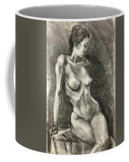 Alison Charcoal On Paper From Observation  Coffee Mug