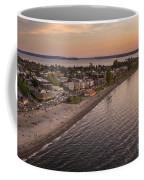 Alki Point Aerial Sunset Coffee Mug