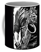 All Blues Man With Jazz On The Side Coffee Mug by Bob Orsillo
