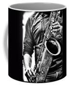 All Blues Man With Jazz On The Side Coffee Mug